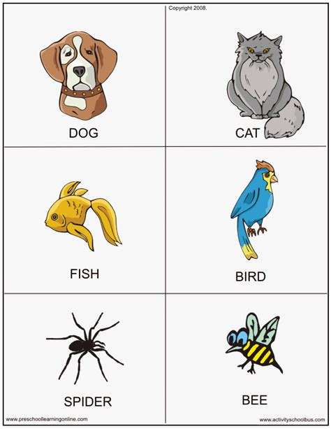 printable learning flashcards for toddlers animal flashcards for kids preschool learning online
