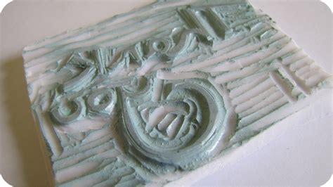 how to carve a rubber st the haby goddess 1st attempt at rubber st carving