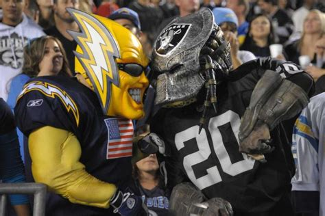 chargers mascot the history of the chargers vs the raiders why the bad