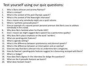 spoken language quiz