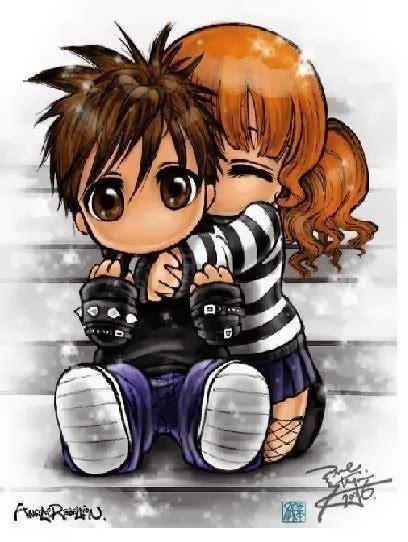 gambar animasi pelukan kartun