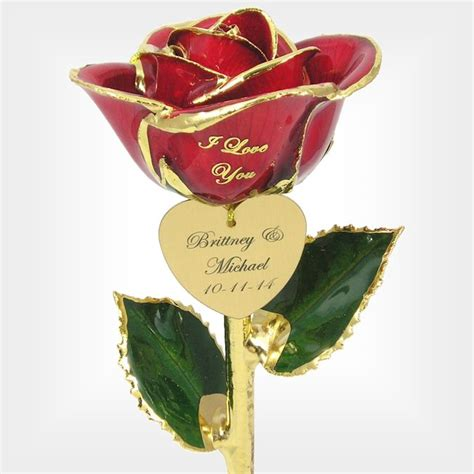 personalized i love you rose 11in love is a rose