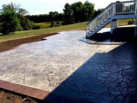 Concrete Backyard by Backyard Sted Concrete Patio With Border Blackwater