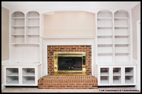bookcases fireplace surround
