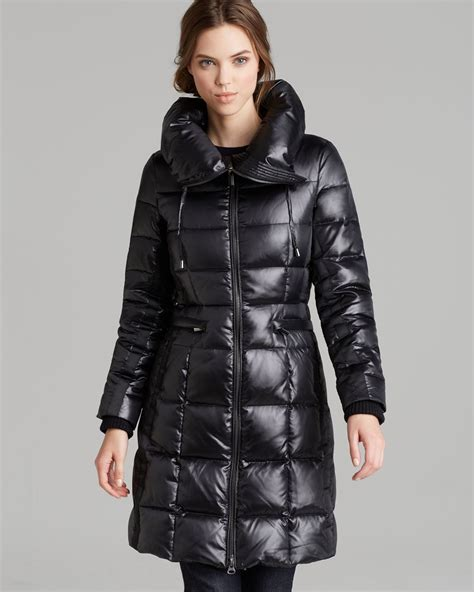 Pillow Collar Coats by Bcbgmaxazria Coat Pillow Collar In Black Lyst
