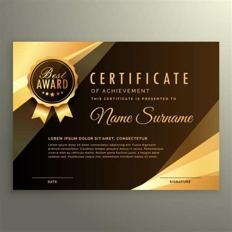 certificate design elegant elegant luxury certificate vector free download