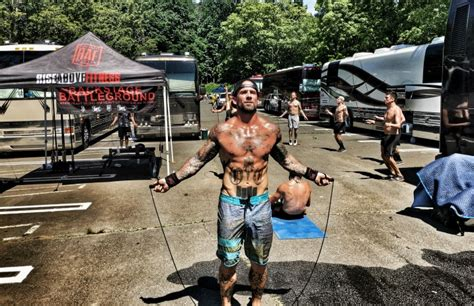 brandan schieppati backstage bodybuilding at warped tour with bleeding