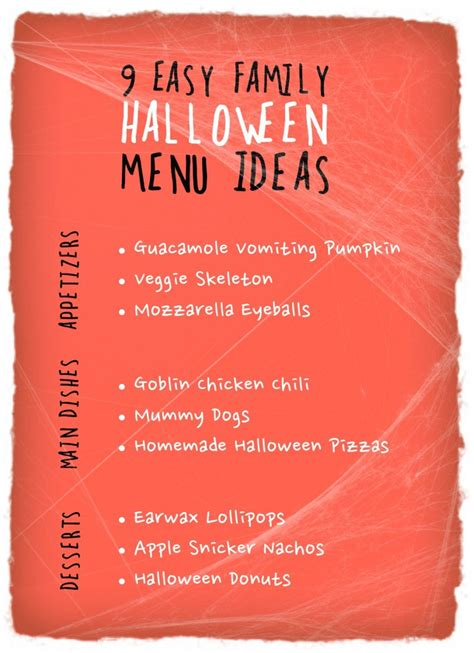 theme dinner names 9 easy family halloween menu ideas from cul de sac cool