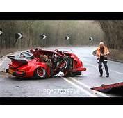 Fatal Car Crash  Porsche 911 Folds Like A Sardine Can YouTube