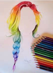 easy colorful drawings rainbow hair drawing color hair was so to draw