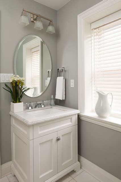 Gray Powder Room Ideas by Home Sweet Home Transitional Powder Room Toronto
