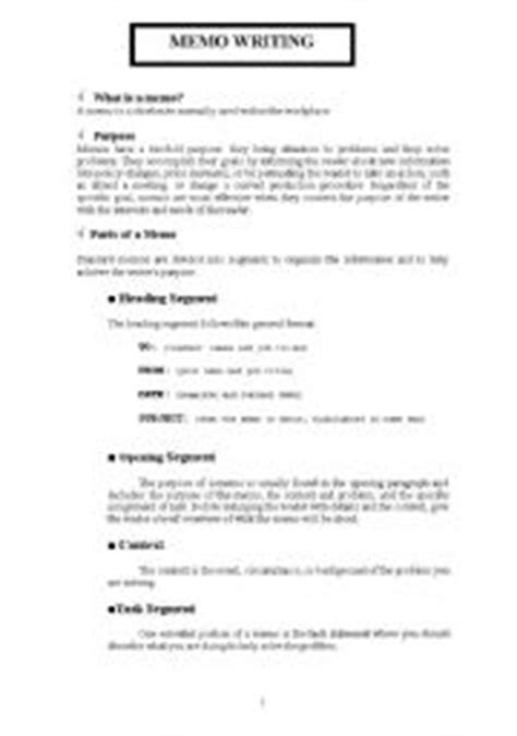 Memo Writing Exercises Teaching Worksheets Memo