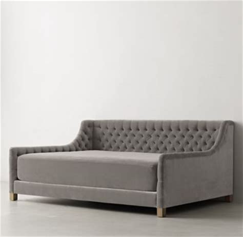 daybed mattress slipcover devyn tufted velvet daybed with trundle weathered oak