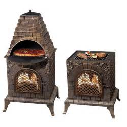 Cast Iron Chiminea Pizza Oven Deeco Aztec Allure Pizza Oven Outdoor Fireplace Amp Reviews