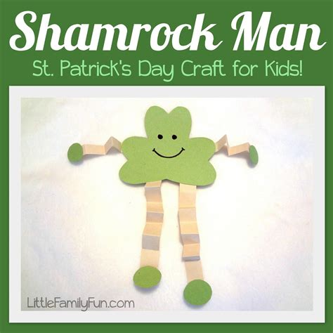 manly craft projects family shamrock st s day craft