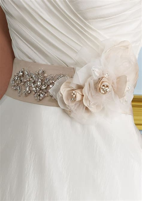 taffeta sash with removable flower style 74 morilee
