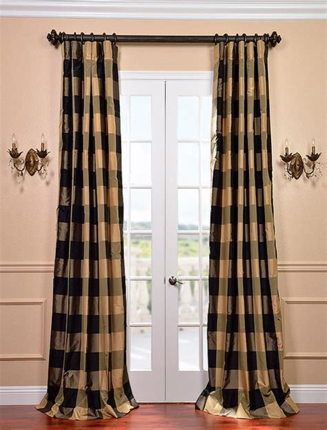 plaid silk curtains eastwood silk taffeta plaid curtain contemporary