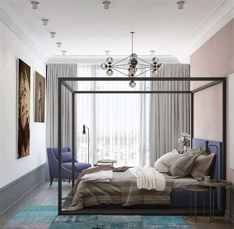mauve bedroom a pair of modern homes with distinctively bright color themes