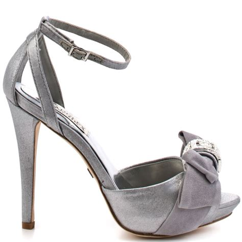 baby silver shoes badgley mischka s grey baby silver satin for 168 74