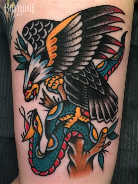 christian eagle tattoo eagle vs snake tattoo by christian otto burnout ink