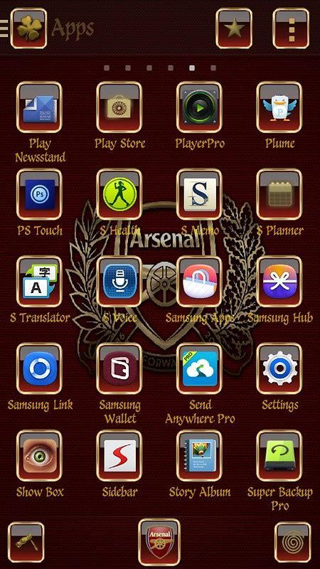 download themes arsenal arsenal fc free android theme download download the free