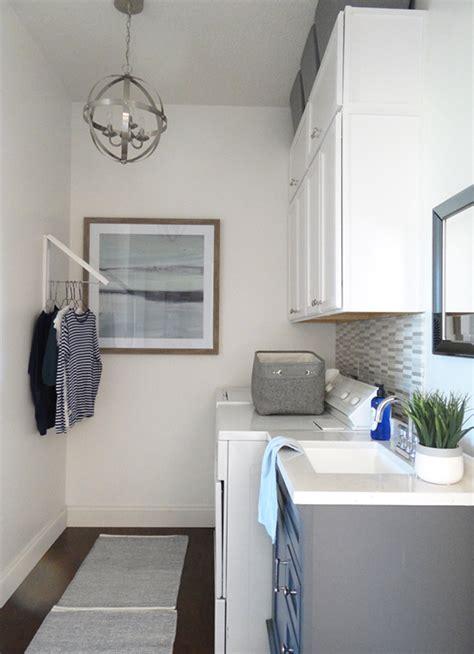 design laundry her modern laundry room makeover the home depot blog