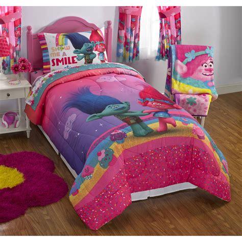 full bedding dreamwork s trolls move poppy reversible twin full bedding