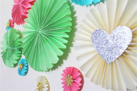 diy paper fan decorations cupcake toppers bespoke