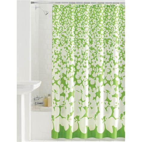 green floral shower curtain mainstays floral ditty green fabric shower curtain 70x72
