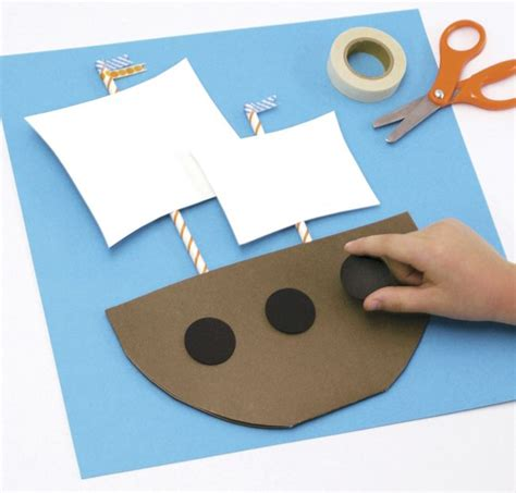 kid craft boats best 25 pirate ship craft ideas on