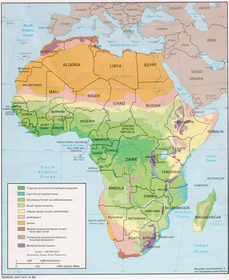 africa map vegetation zones go universal green maps