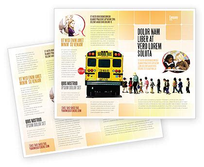 school brochure design templates school stop brochure template design and layout