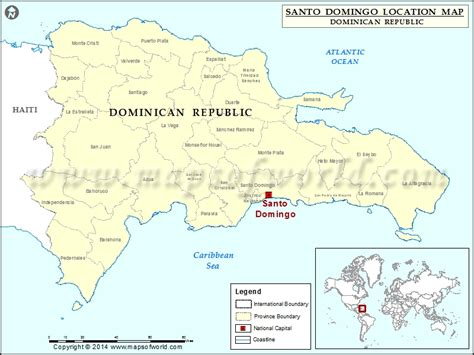 location of republic on world map where is santo domingo location of santo domingo in
