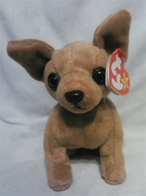 beanie baby tiny the chihuahua ty beanie baby misspelled tag