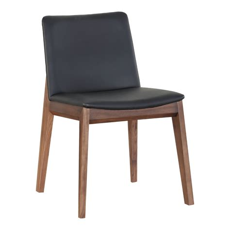 deco dining chair black pvc m2 products moe s wholesale