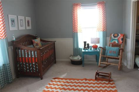 orange nursery curtains orange and teal nursery teal nursery teal and nurseries
