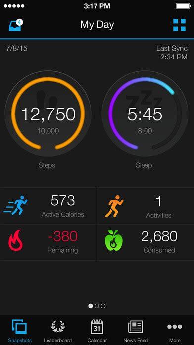 vivofit sync reset garmin connect mobile on the app store