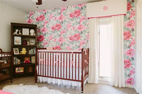 girly nursery wallpaper vote december room finalists project nursery
