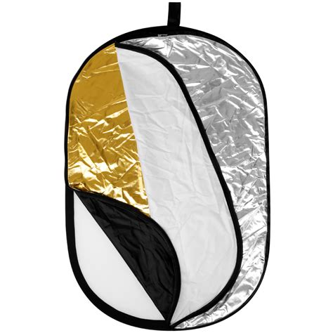Godox Reflector Oval 2 In 1 Size 120x180 Cm Gold Silver neewer 5 in 1 oval 31 quot x47 quot professional collapsible multi disc light reflector ebay