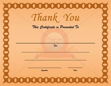 thank you certificate templates free 14 best thank you certificate templates images on