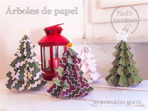 193 rboles de navidad de papel para imprimir gratis pequeocio