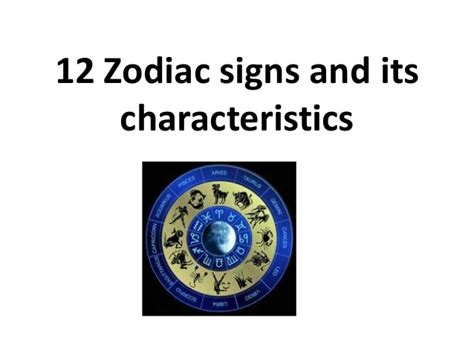 12 zodiac signs and its characteristics