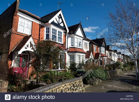 Row Of Houses In Farrer Road Hornsey North London England Uk Stock Photo Royalty