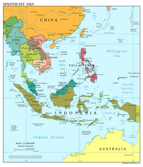 southeast asia map large scale political map of southeast asia with capitals