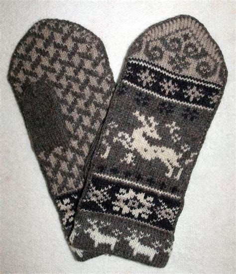 folk knitting scandinavian crafted 100 wool mittens