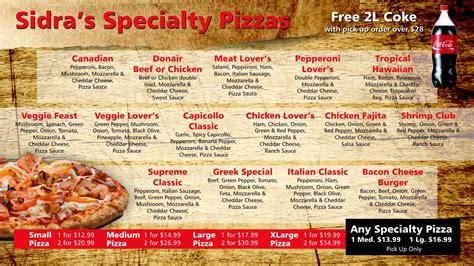 Pizza Description by Menu