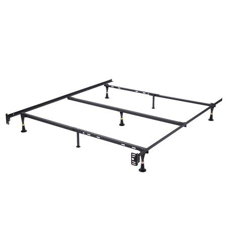 pilaster designs heavy duty 7 leg adjustable metal xl bed frame with