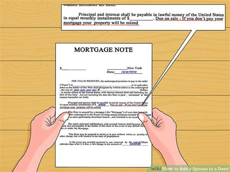 name on house deed but not on mortgage how to add a spouse to a deed 9 steps with pictures