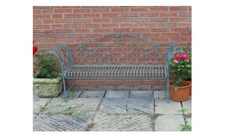 vintage metal garden bench vintage blue metal garden bench homegenies