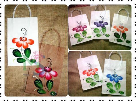 fundas de papel fundas bolsos papel pintados a mano pintura en tela